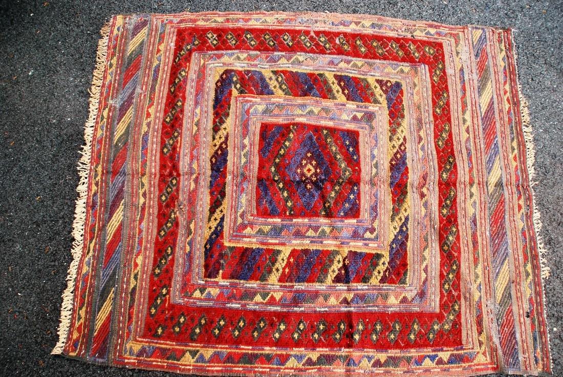 Antique Herati Carpet Rug 3.7x3.7