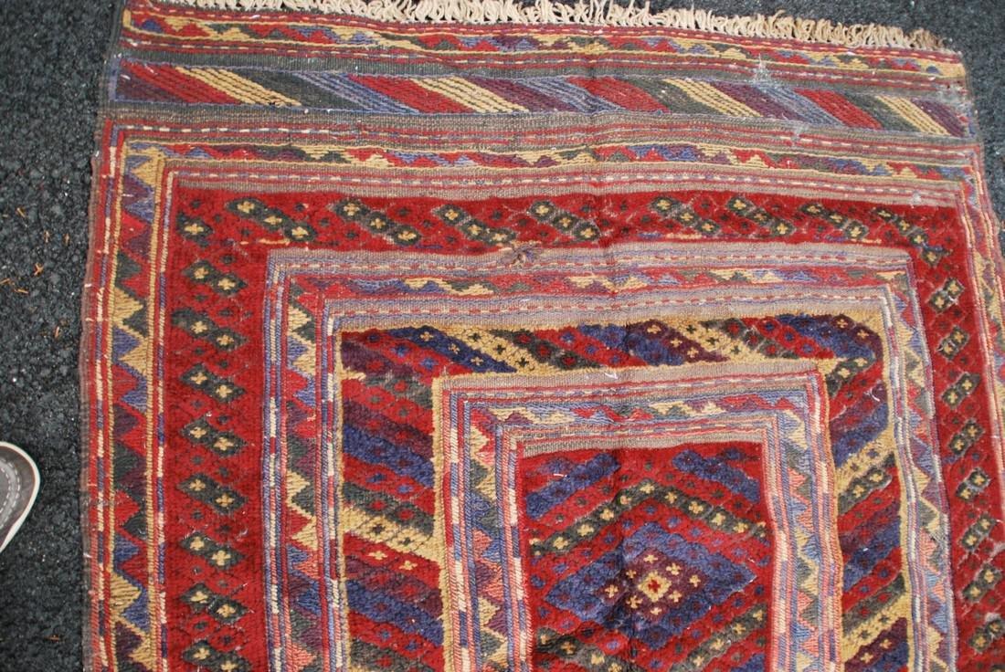 Antique Herati Carpet Rug 3.7x3.7 - 3