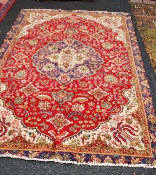 Vintage Persian Carpet Rug 8.6x6
