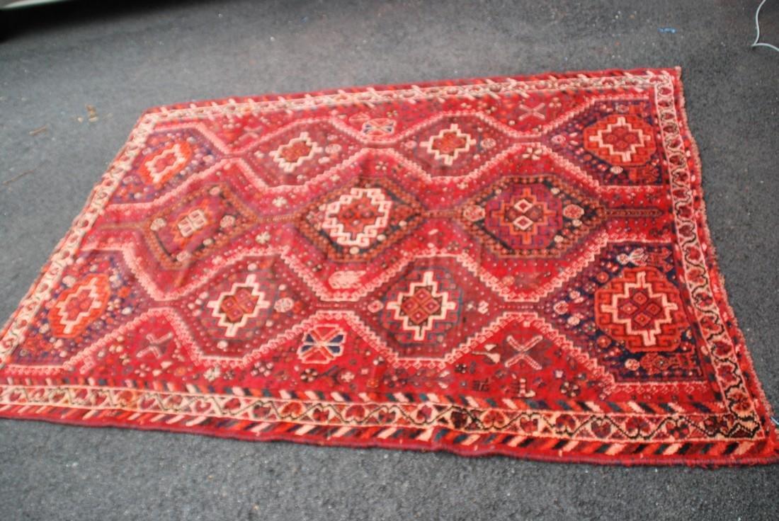 Antique Persian Primitive Carpet Rug 8x5.5