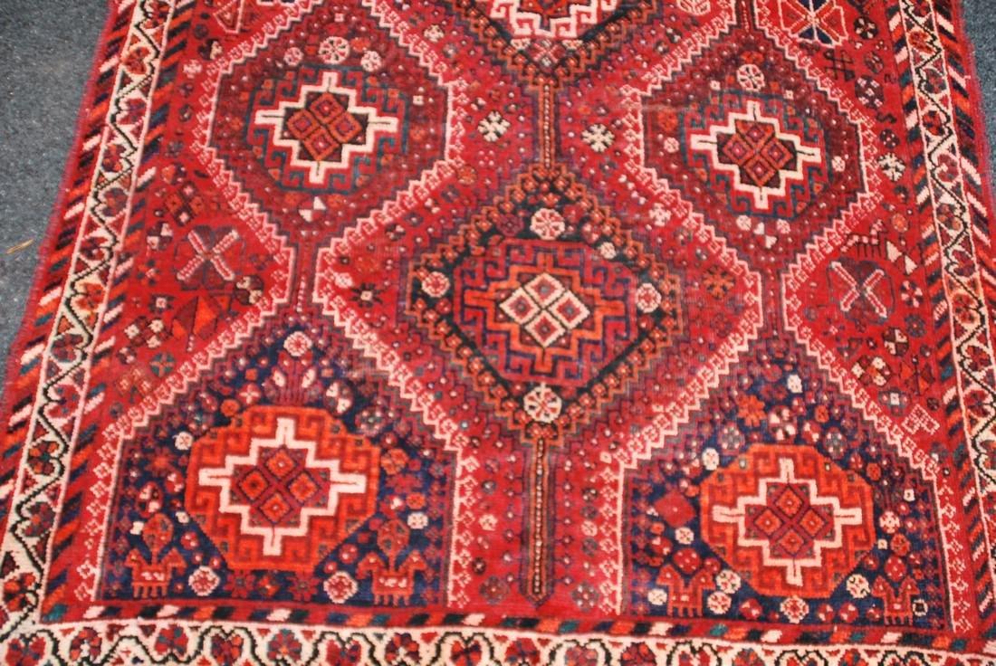Antique Persian Primitive Carpet Rug 8x5.5 - 3