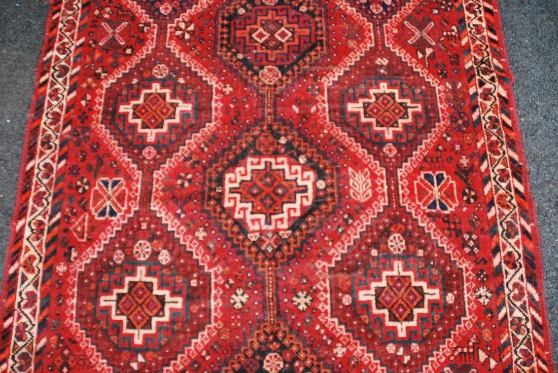 Antique Persian Primitive Carpet Rug 8x5.5 - 4
