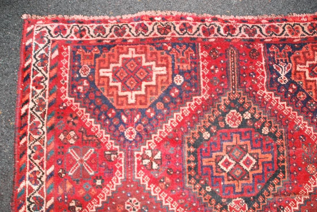 Antique Persian Primitive Carpet Rug 8x5.5 - 5