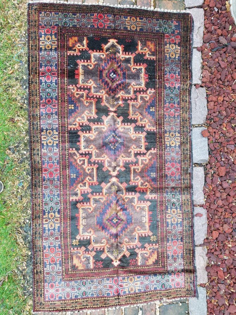 Vintage Persian Carpet Rug 6x3.4