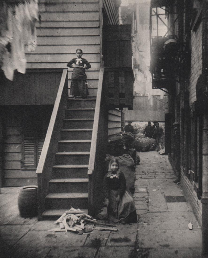 JACOB A. RIIS - Baxter Street Alley, NY 1888