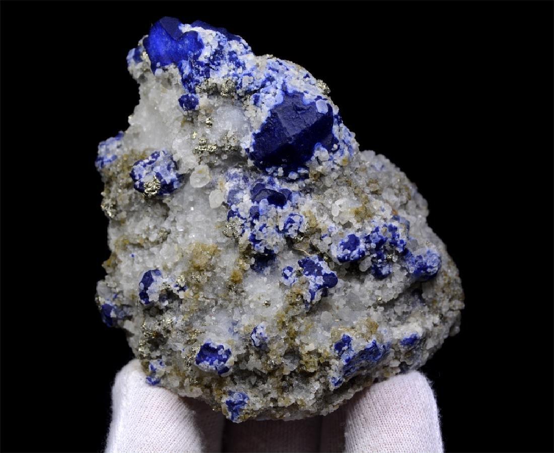273 Gram Blue Lazurite With Calcite Specimen