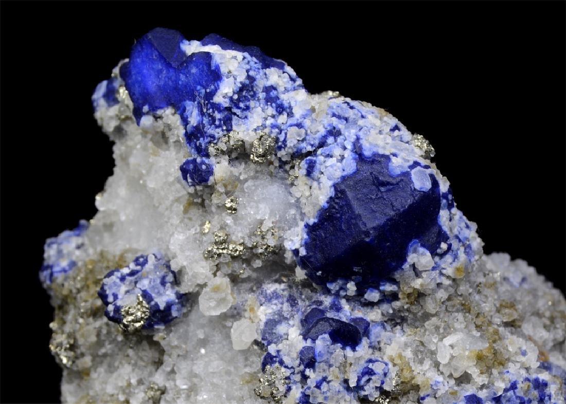 273 Gram Blue Lazurite With Calcite Specimen - 4