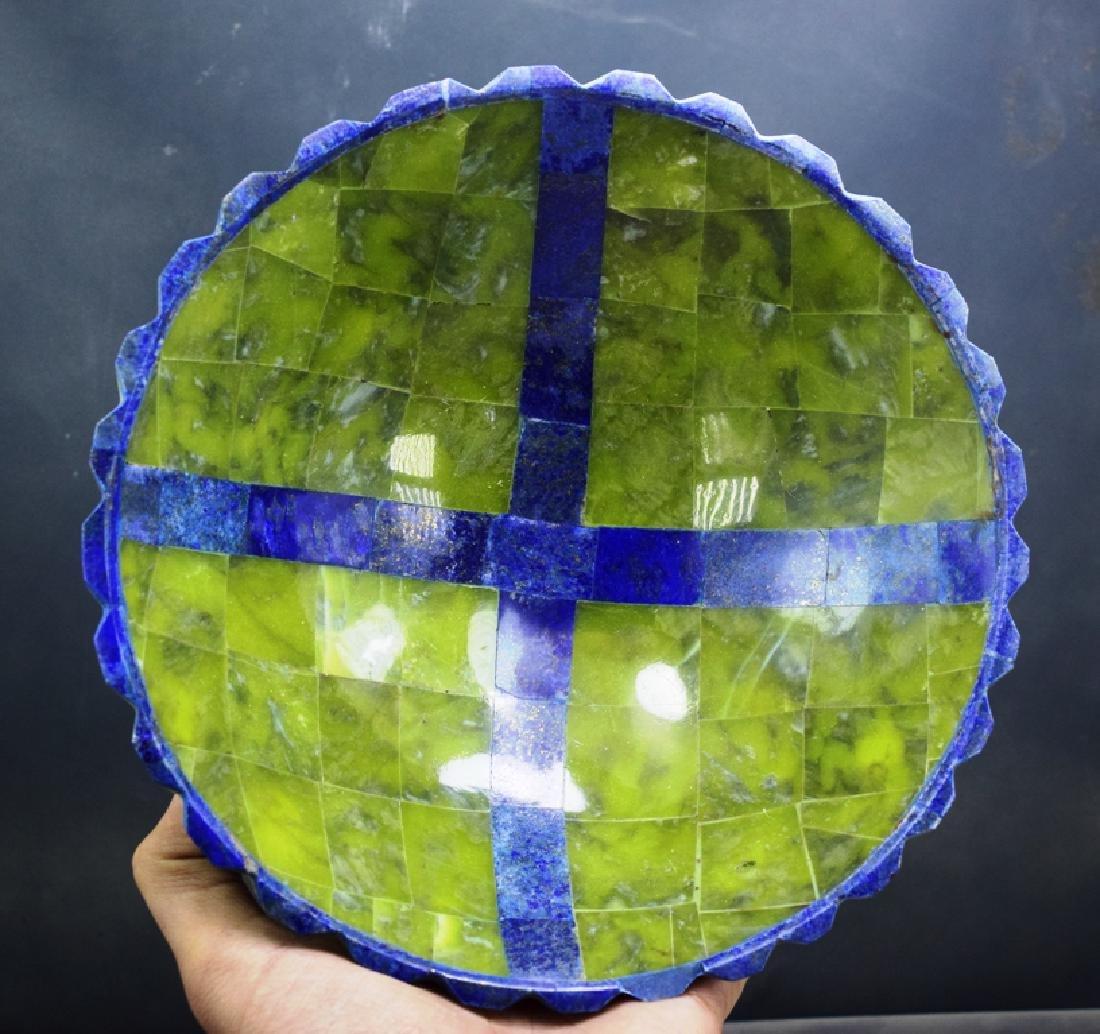 Jade & Lapis Lazuli Bowl