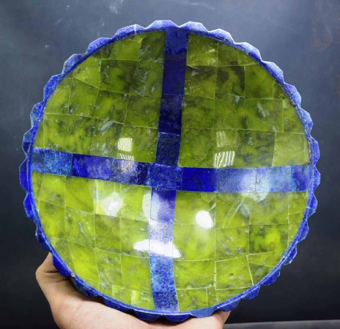 Jade & Lapis Lazuli Bowl - 4