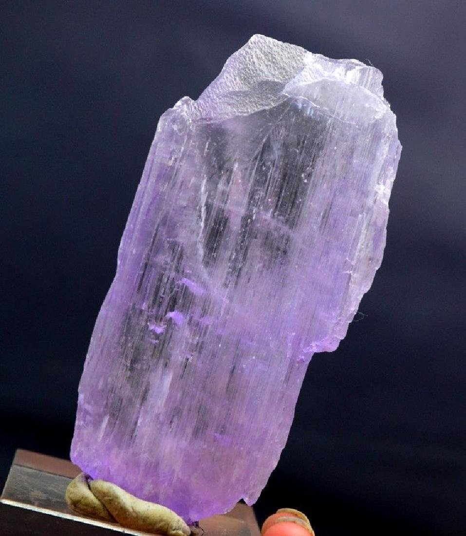 Double terminated natural Pink kunzite crystal - 2
