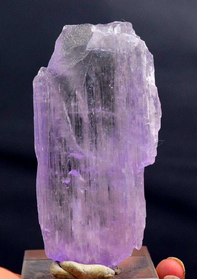 Double terminated natural Pink kunzite crystal - 3