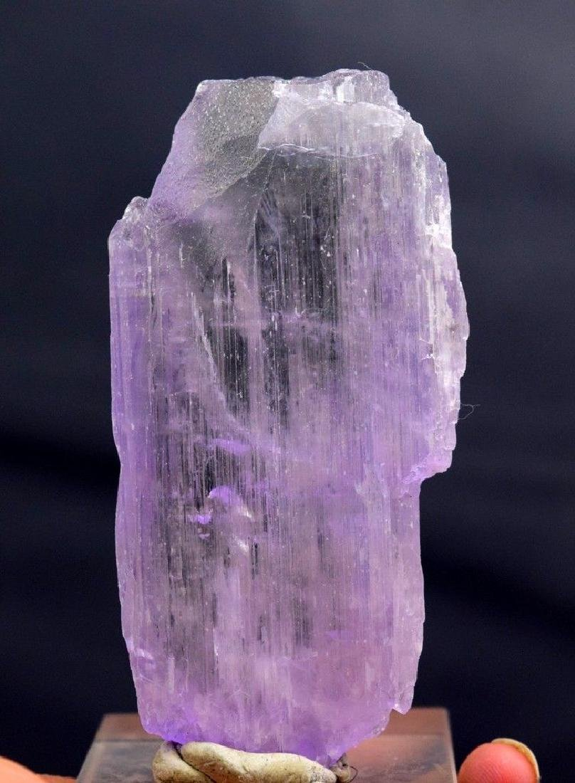 Double terminated natural Pink kunzite crystal - 4
