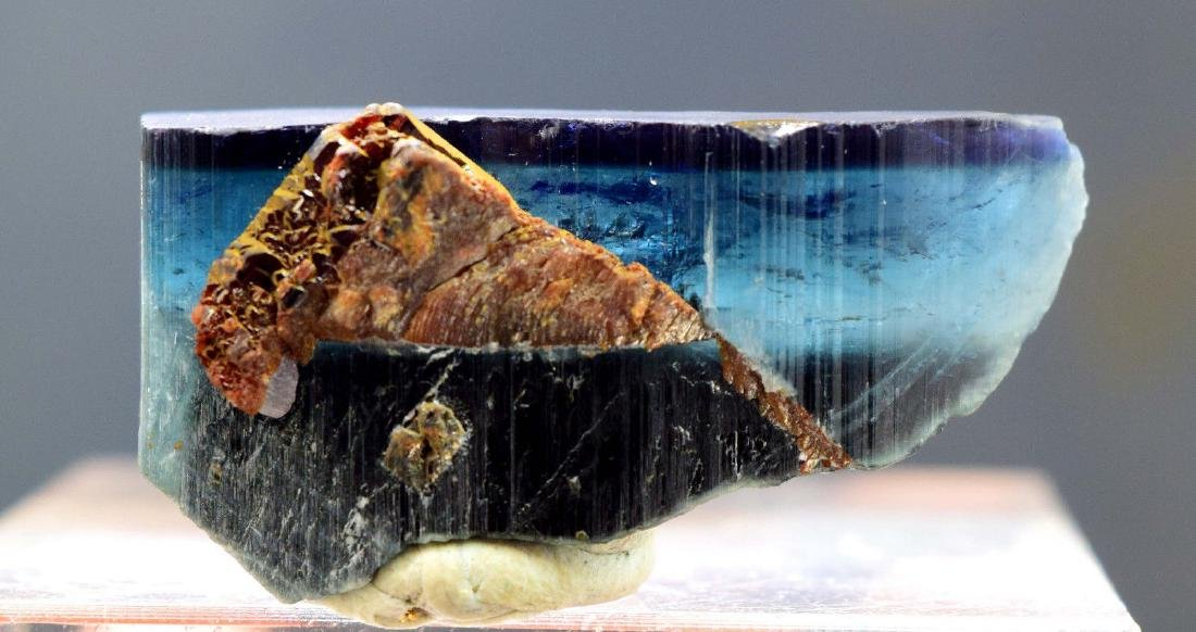 Terminated & Undamaged Indicolite Tourmaline with - 6