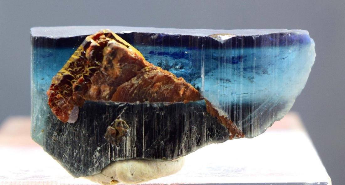 Terminated & Undamaged Indicolite Tourmaline with - 7