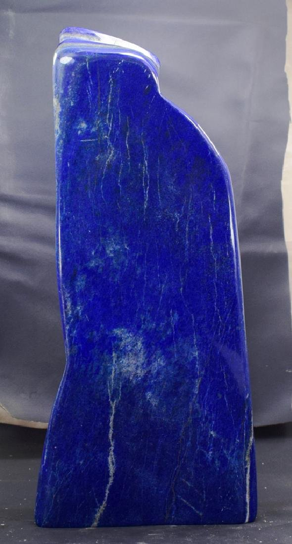 Highly Polished Self Standing Royal Blue Lapis Lazuli