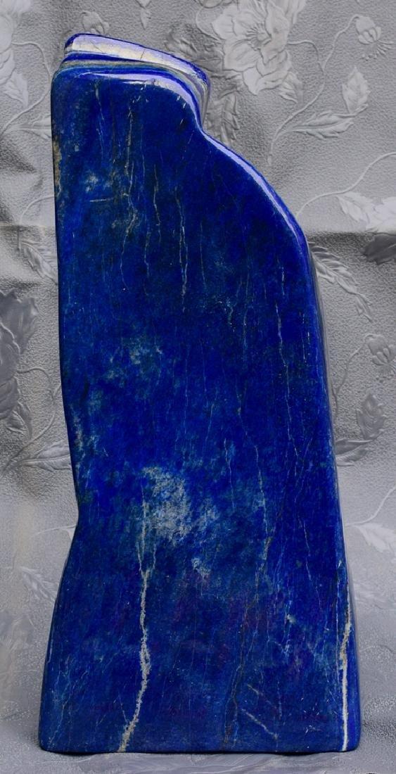 Highly Polished Self Standing Royal Blue Lapis Lazuli - 4