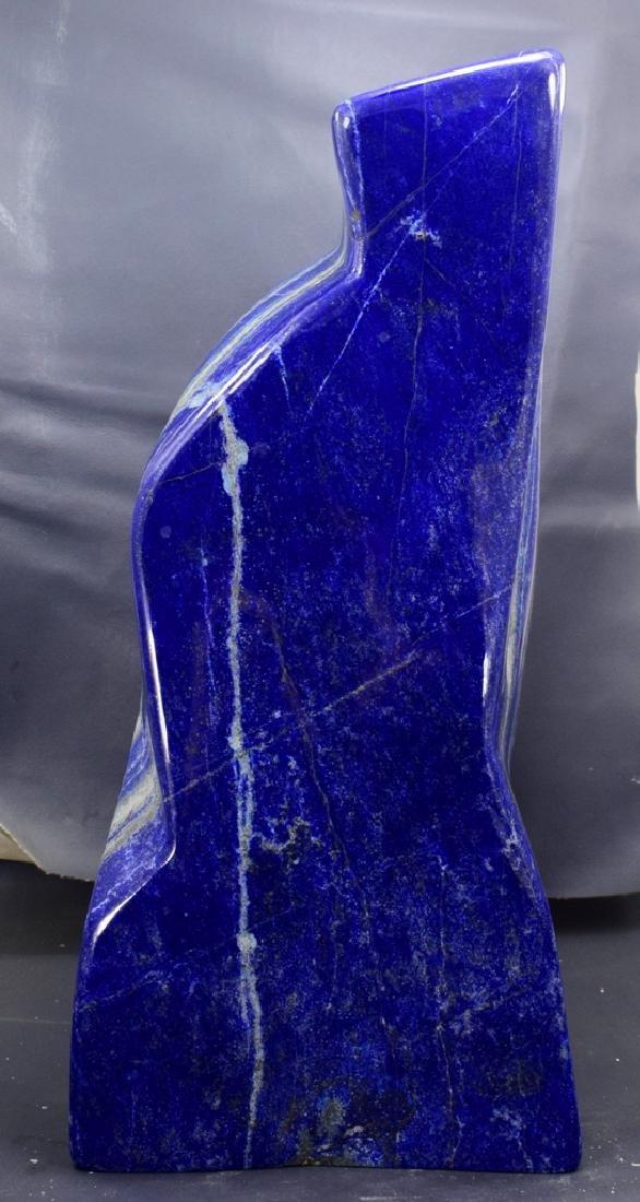 Highly Polished Self Standing Royal Blue Lapis Lazuli - 7