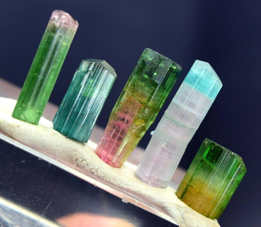 46.70 cts mix tourmaline crystals lot - 3