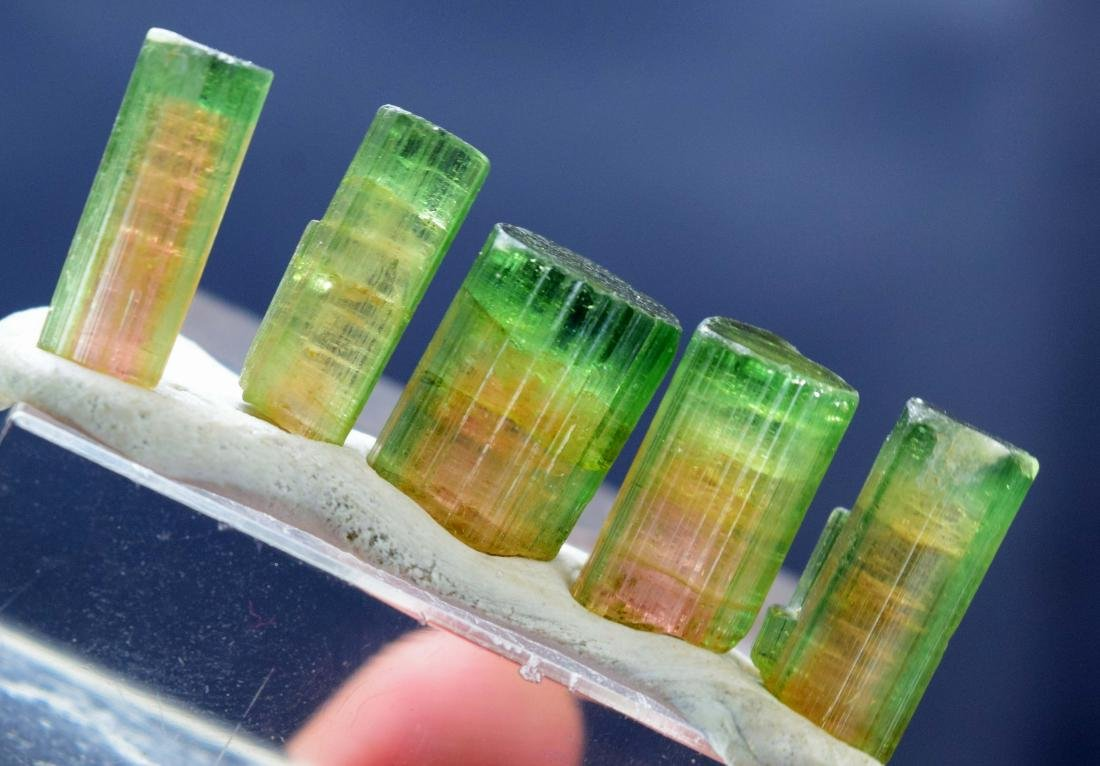 56.90 cts watermelon tourmaline crystals lot - 2