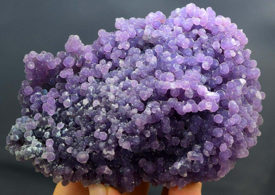 Double Sided Purple Chalcedony Grape Agate Crystals