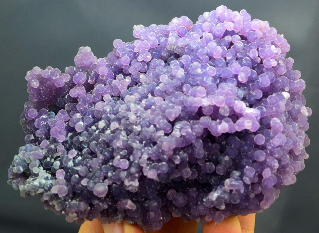 Double Sided Purple Chalcedony Grape Agate Crystals - 4