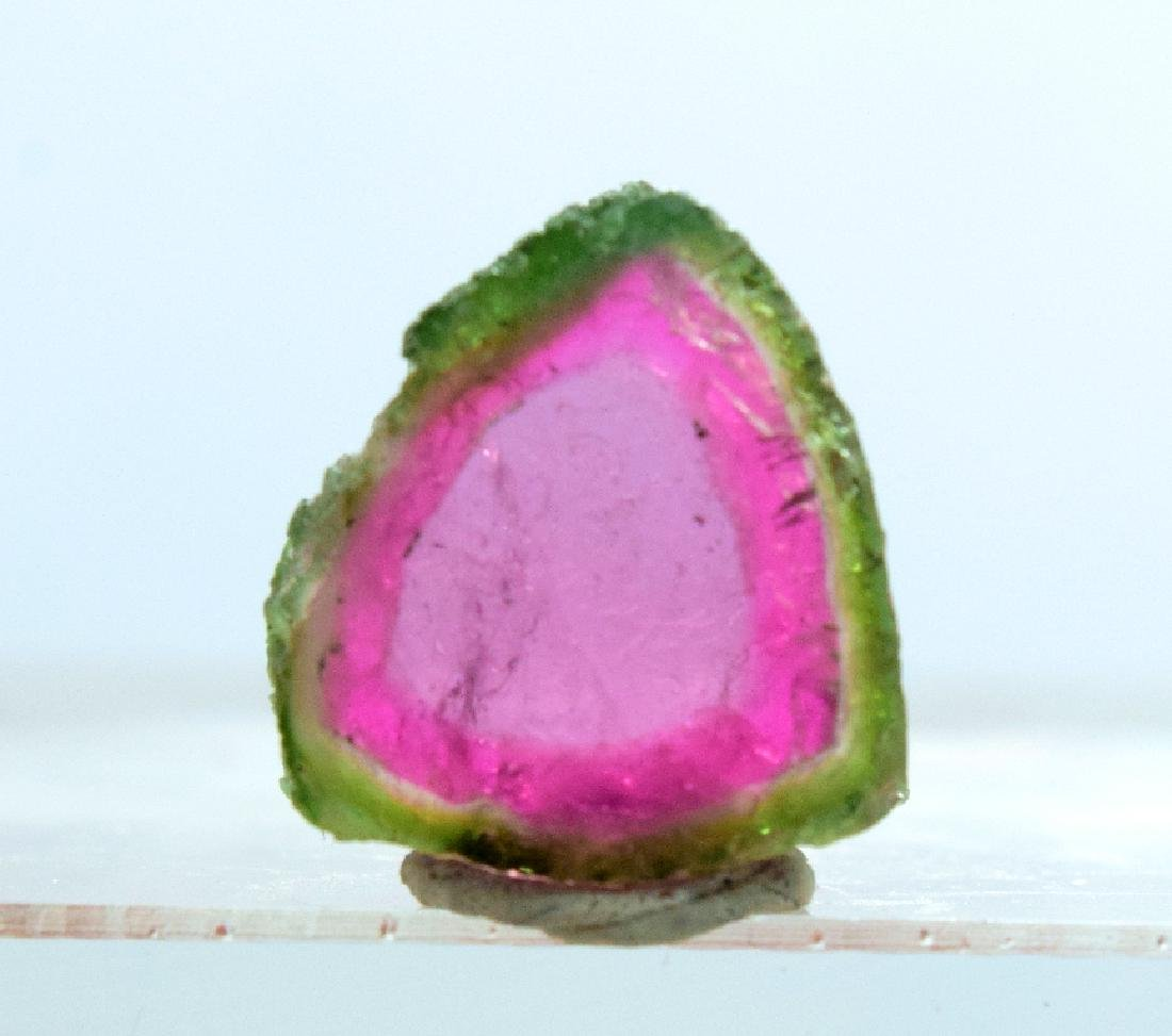 Perfectly Shaped Natural Watermelon Tourmaline Slice