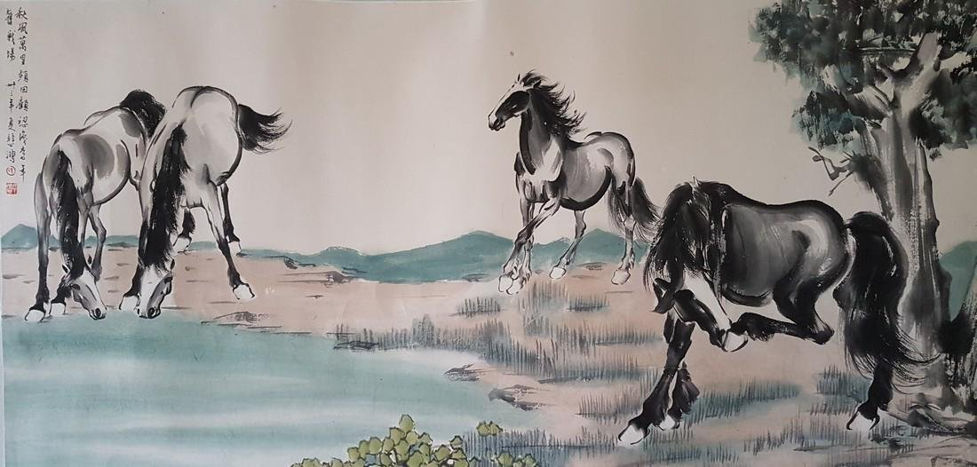A Chinese Painting on paper XU BEIHONG