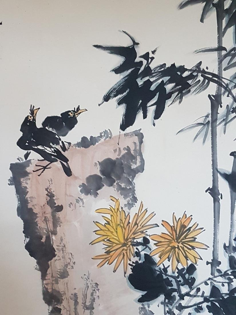 A Chinese Scroll Painting on paper PAN TIANSHOU - 5