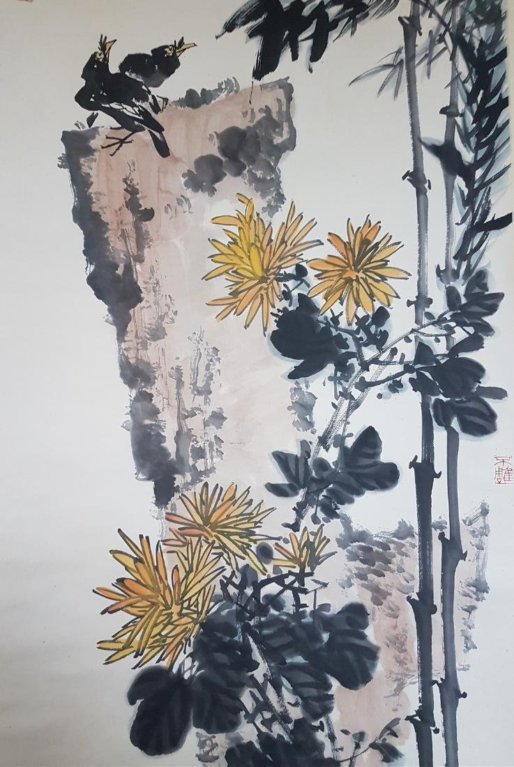 A Chinese Scroll Painting on paper PAN TIANSHOU - 6