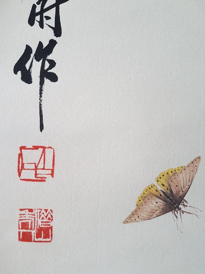 A Chinese Scroll Painting on paper QI BAISHI - 4