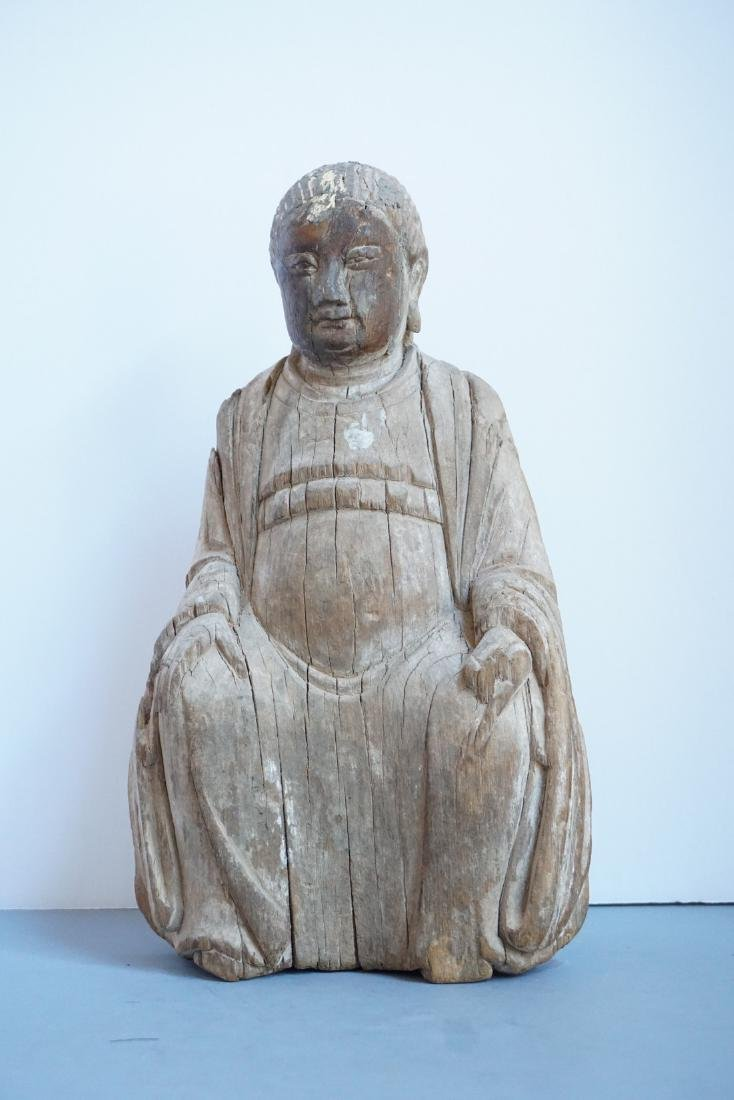 Antique Chinese Wooden Shrine Figure