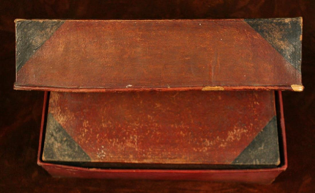 Antique Korean Red and Black Nesting Sewing Boxes - 6