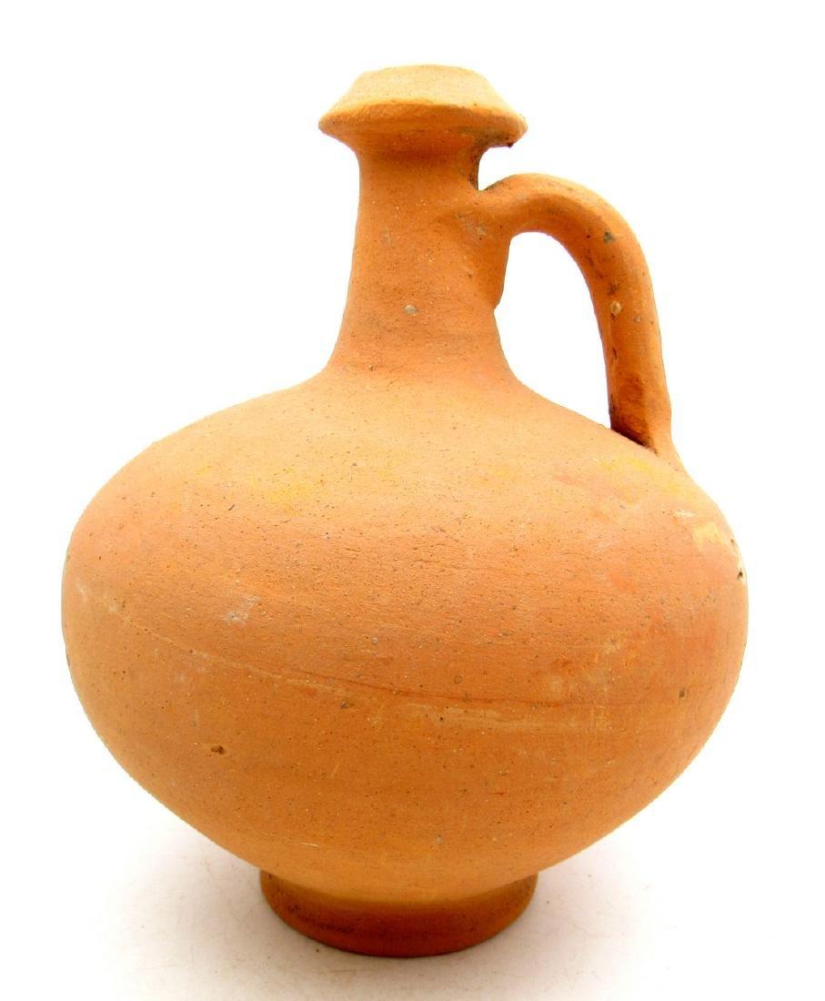Ancient Roman Legionary Terracotta Wine Flagon Jar - 2