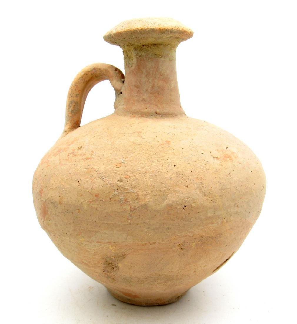 Ancient Roman Legionary Terracotta Wine Flagon Jar