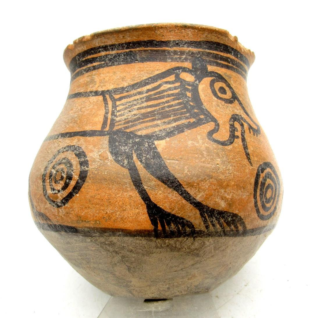 Ancient Indus Valley Terracotta Jar Painted with a Lion