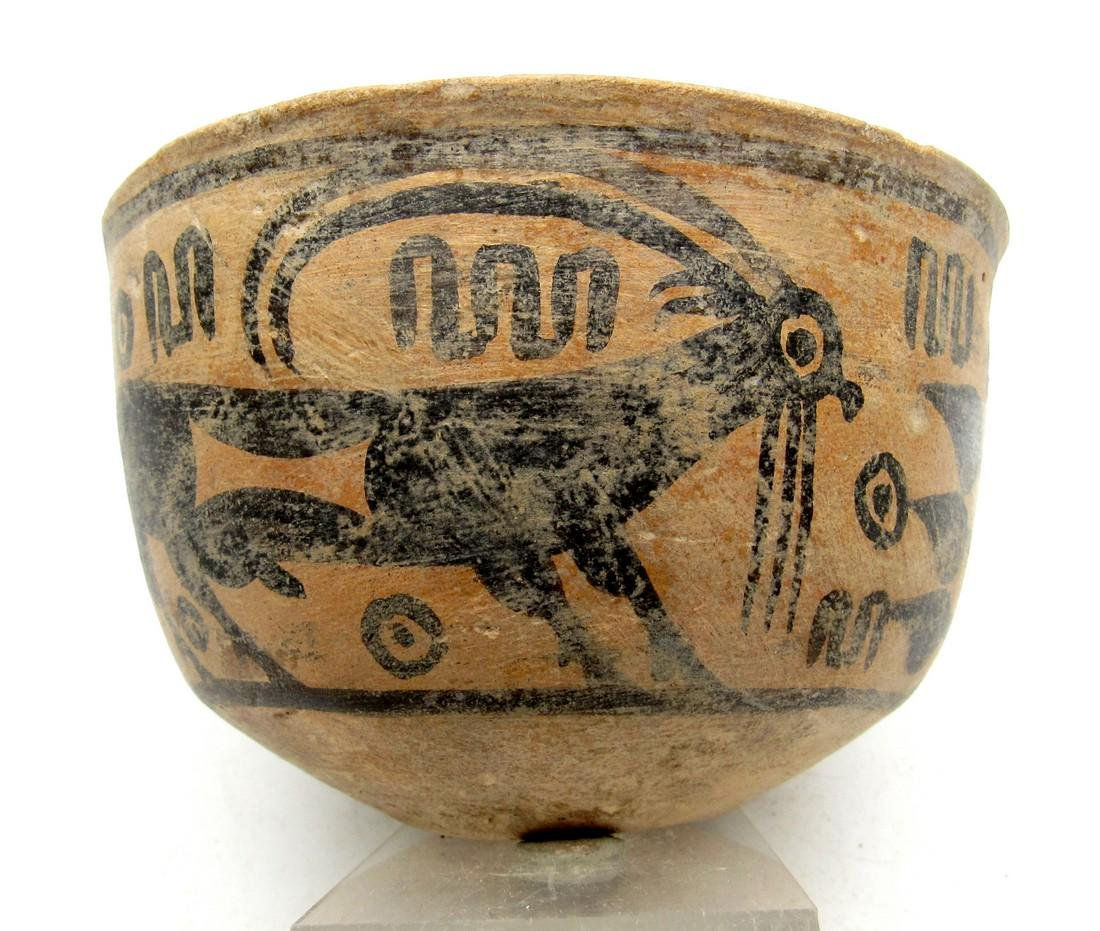 Ancient Indus Valley Terracotta Bowl Painted with a