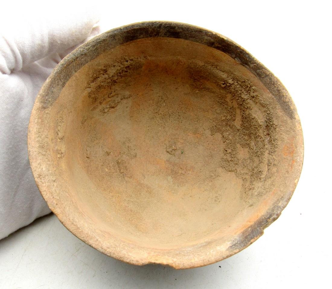 Ancient Indus Valley Terracotta Bowl Painted with a - 2