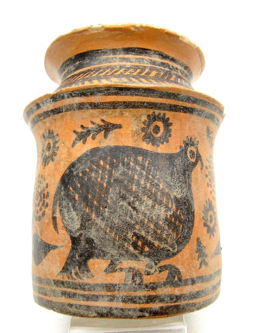 Unique Ancient Indus Valley Terracotta Jar Painted with