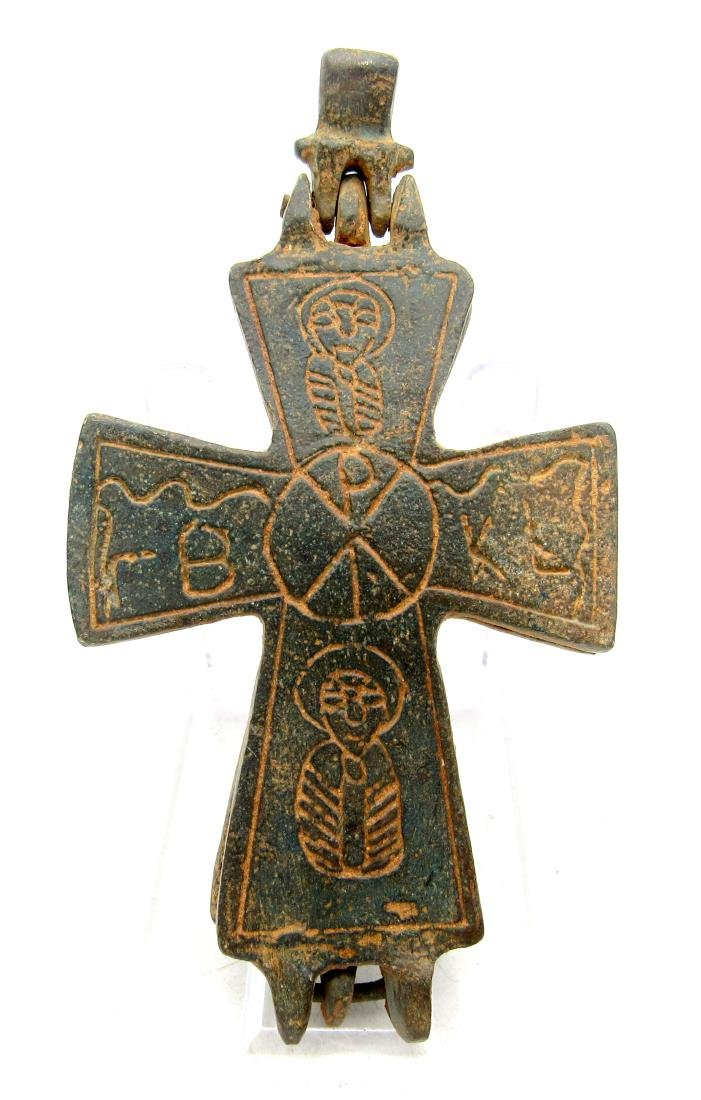 Medieval Crusaders Period Decorated Bronze Reliquary