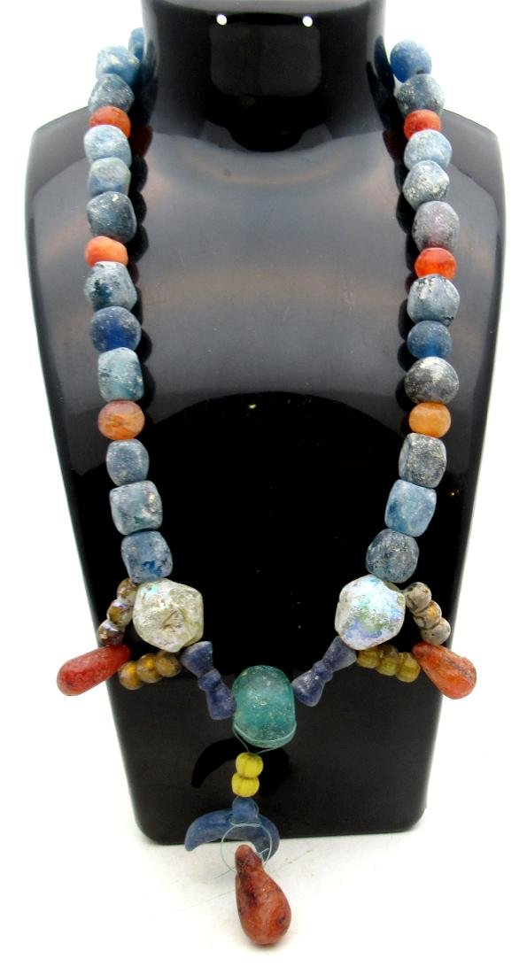 Medieval Viking Era Necklace with 49 Glass Beads