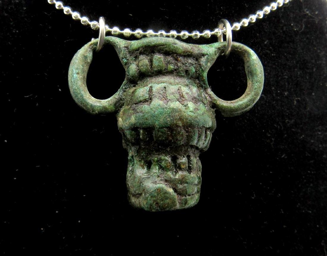 Medieval Viking Era Bronze Vessel Pendant