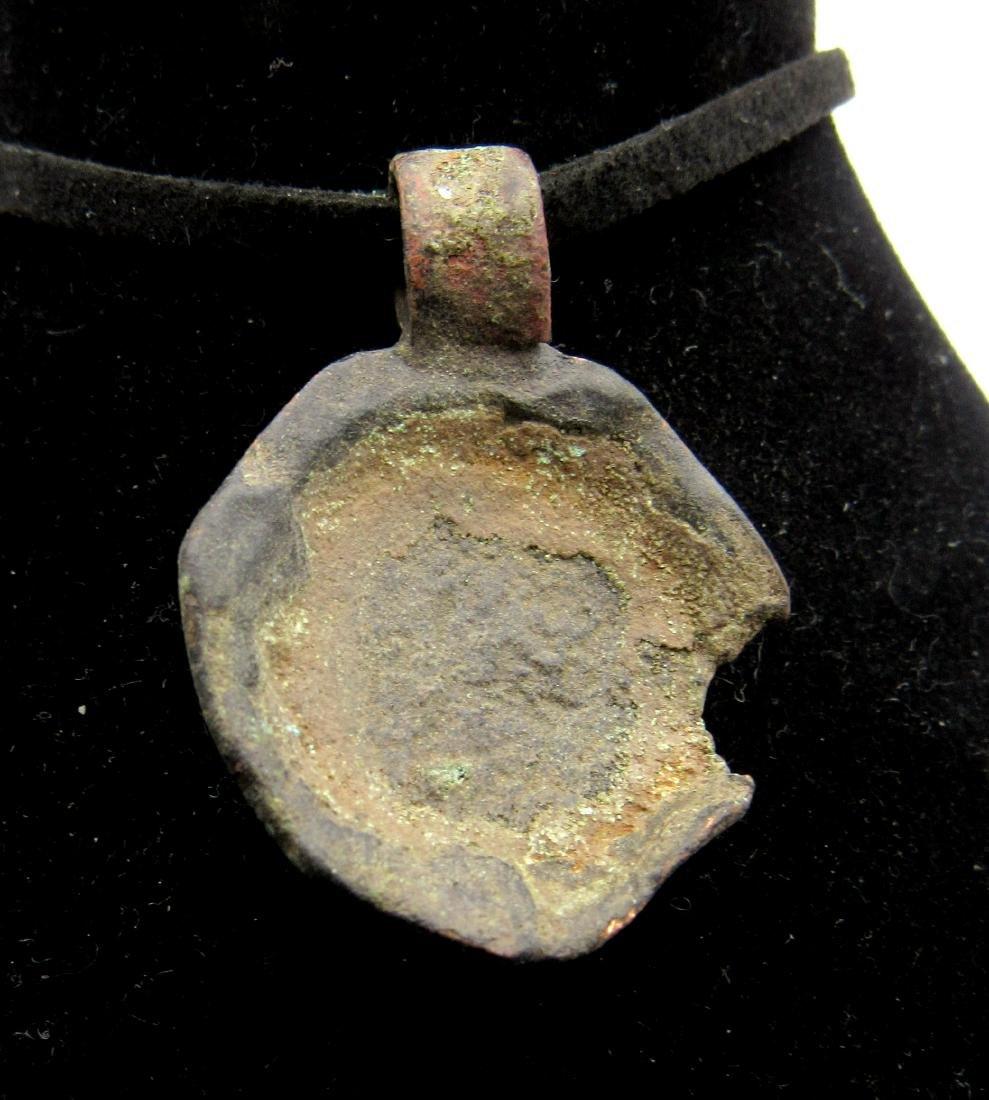 Medieval Viking Era Bronze Sheild Pendant - 2