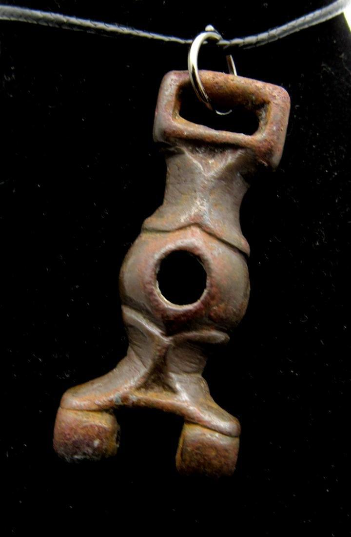 Medieval Viking Era Bronze Junction Pendant
