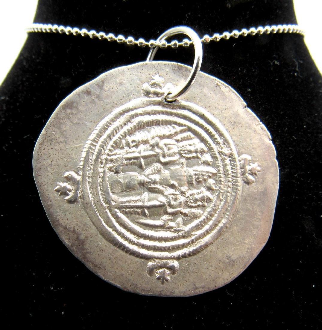 Medieval Viking Era Silver Coin Pendant - 2