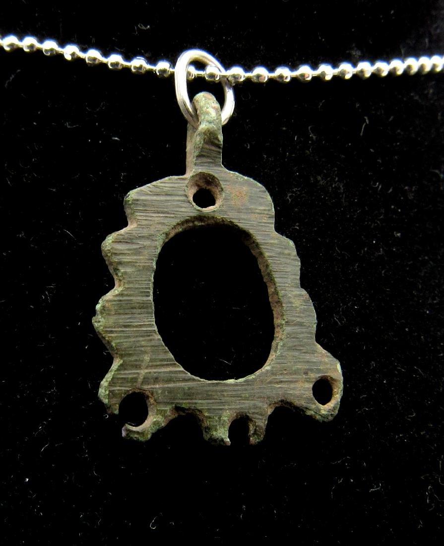 Medieval Viking Era Bronze Open-Work Pendant - 2