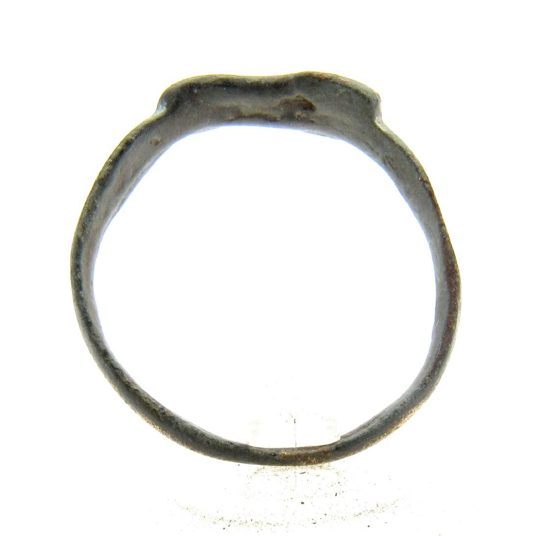 Medieval Viking Era Bronze Runic Ring - 3