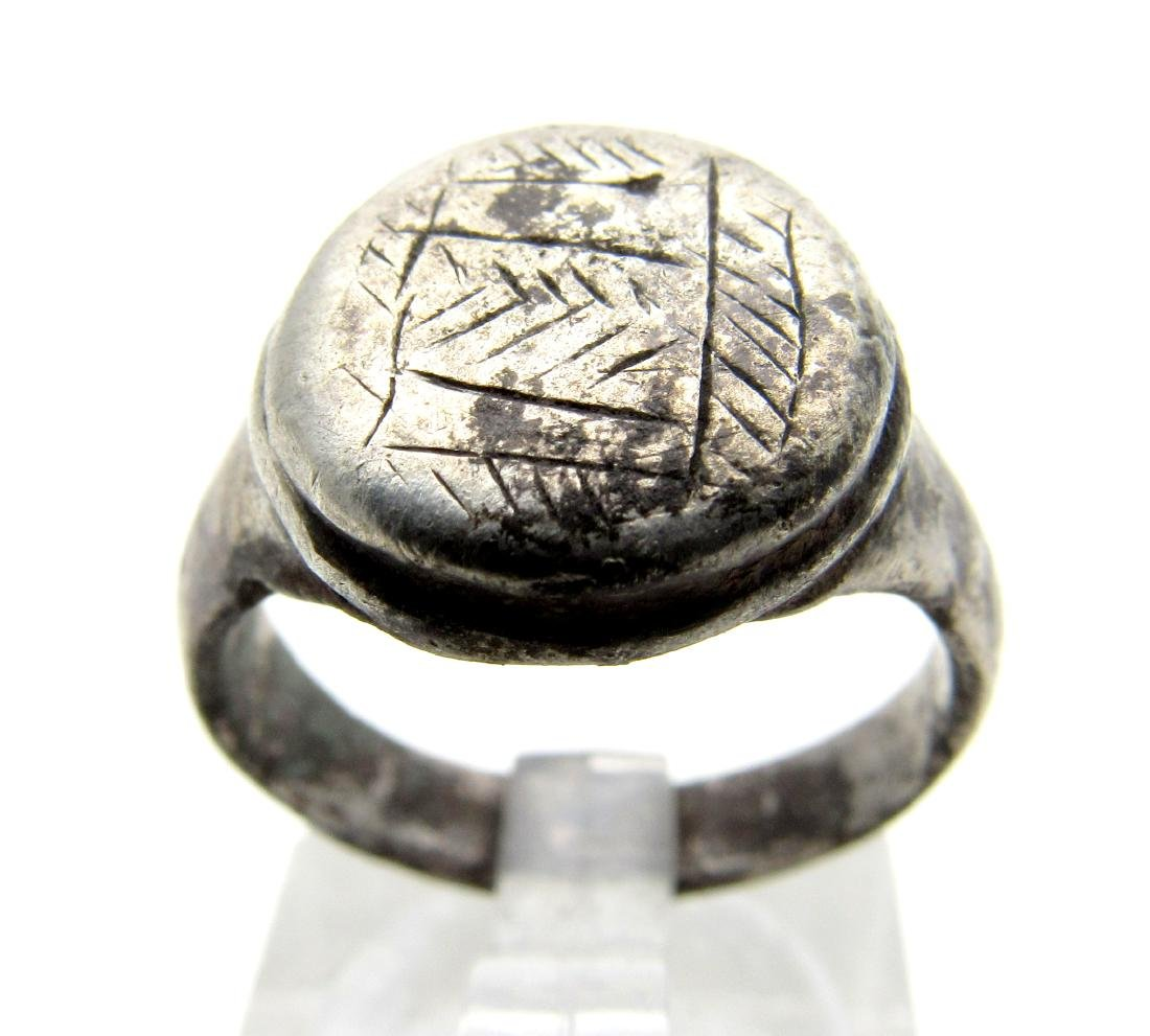 Medieval Viking Era Silver Decorated Ring