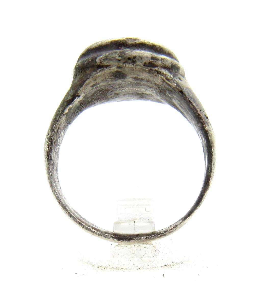 Medieval Viking Era Silver Decorated Ring - 3