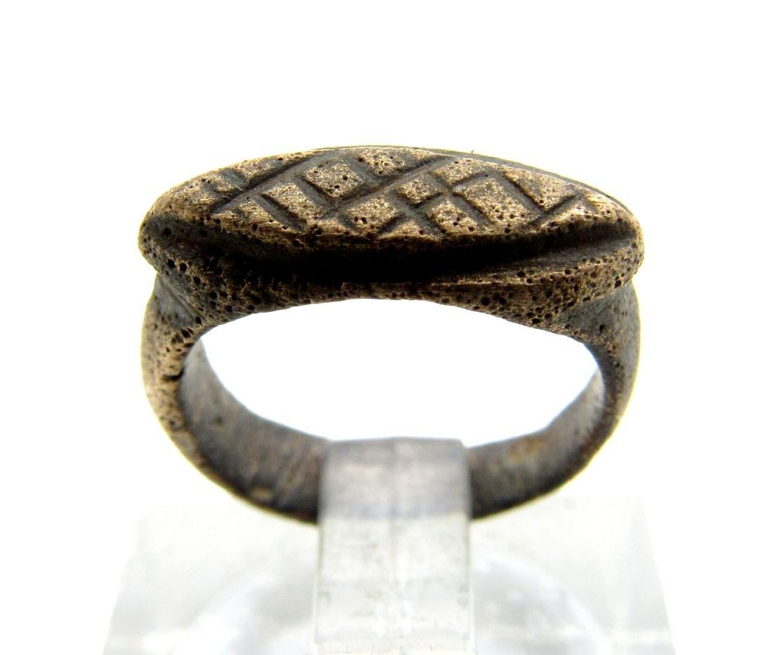 Medieval Viking Era Bronze Fishermans Net Ring