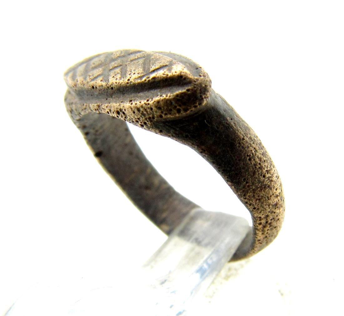 Medieval Viking Era Bronze Fishermans Net Ring - 2